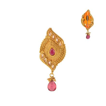 13218 Antique Classic Brooch with gold plating