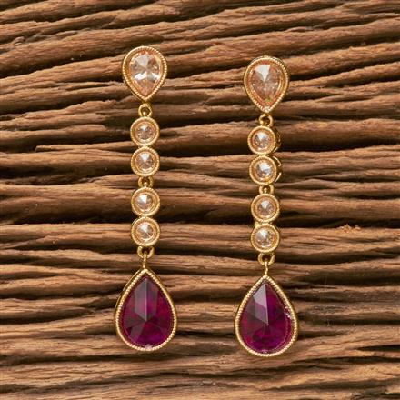 13233 Antique Classic Earring With Mehndi Plating