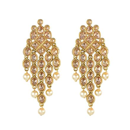 13234 Antique Classic Earring with mehndi plating