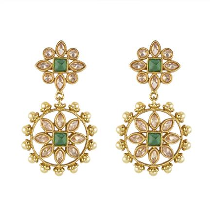 13235 Antique Classic Earring with mehndi plating