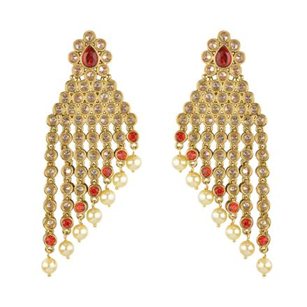 13236 Antique Classic Earring with mehndi plating