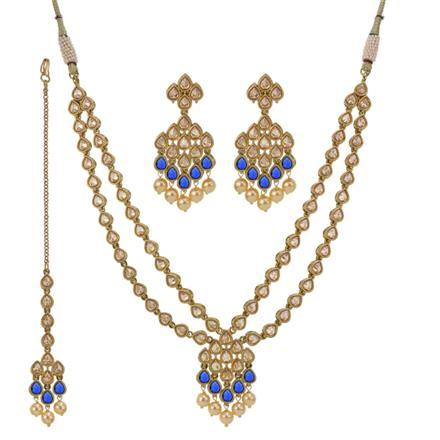 13238 Antique Classic Necklace with mehndi plating