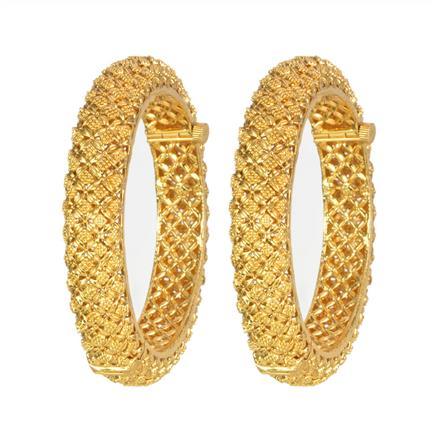 13240 Antique Plain Gold Bangles