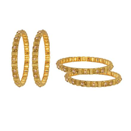 13241 Antique Classic Bangles with gold plating
