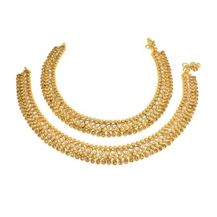 13242 Antique Classic Payal with gold plating