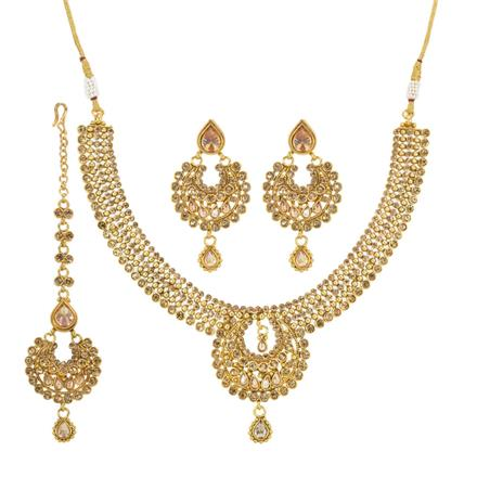 13243 Antique Classic Necklace with gold plating