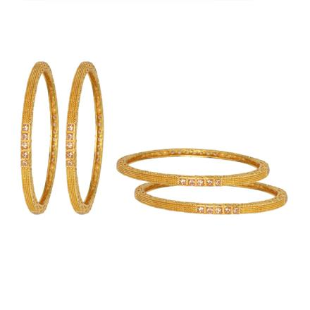 13246 Antique Classic Bangles with gold plating