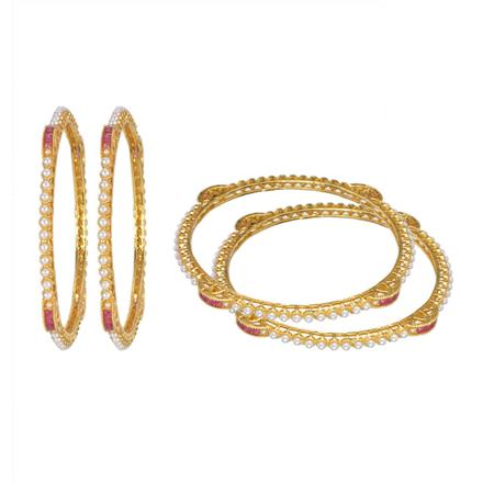 13247 Antique Classic Bangles with gold plating