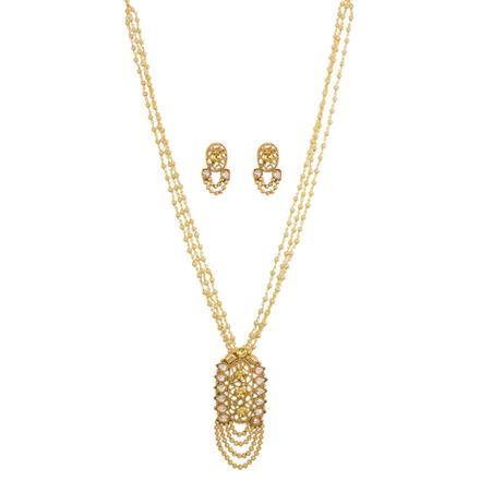 13248 Antique Mala Pendant Set with gold plating