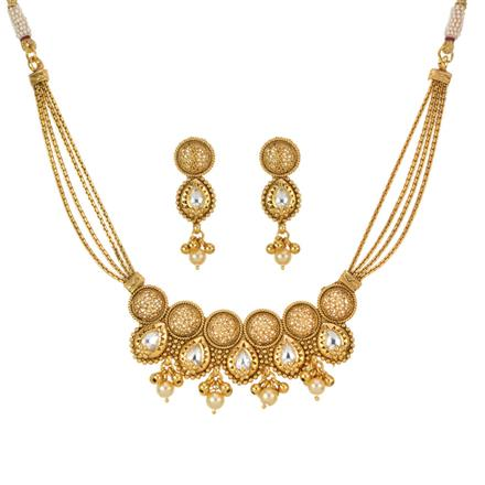 13250 Antique Classic Necklace with gold plating