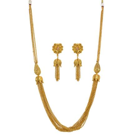 13251 Antique Mala Necklace with gold plating