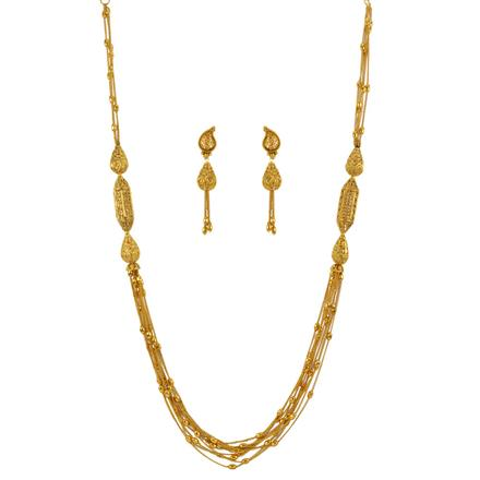 13252 Antique Mala Necklace with gold plating