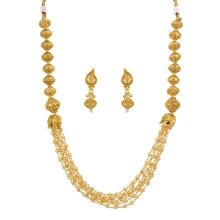 13253 Antique Mala Necklace with gold plating