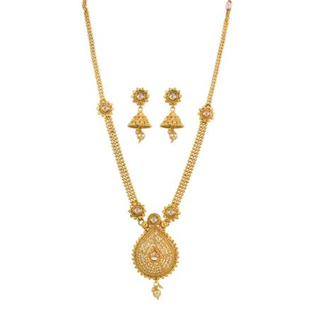 13256 Antique Long Necklace with gold plating