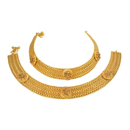 13260 Antique Classic Payal with gold plating