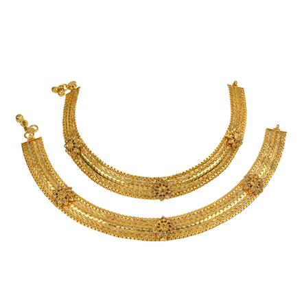13263 Antique Classic Payal with gold plating