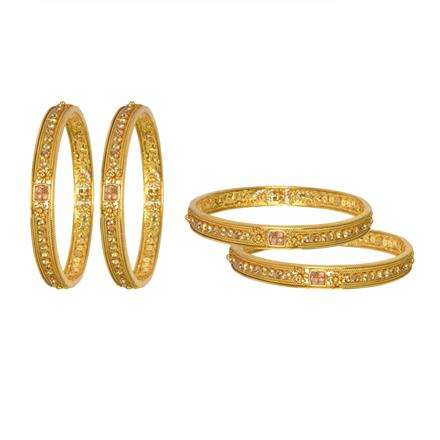 13264 Antique Classic Bangles with gold plating