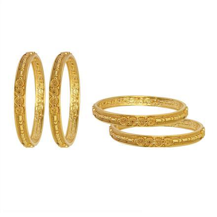 13265 Antique Plain Gold Bangles