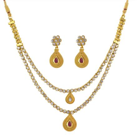 13266 Antique Classic Necklace with gold plating