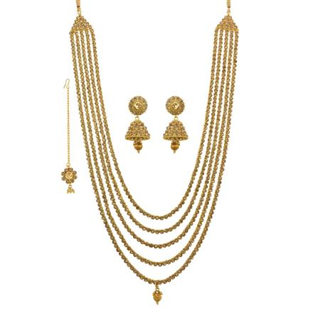 13267 Antique Long Necklace with gold plating