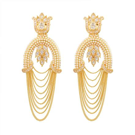 13268 Antique Long Earring with gold plating