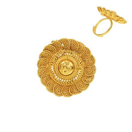 13271 Antique Plain Gold Ring