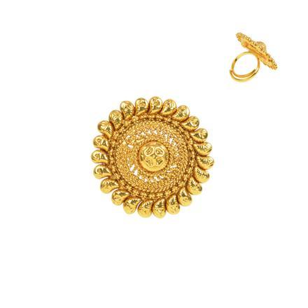 13272 Antique Plain Gold Ring