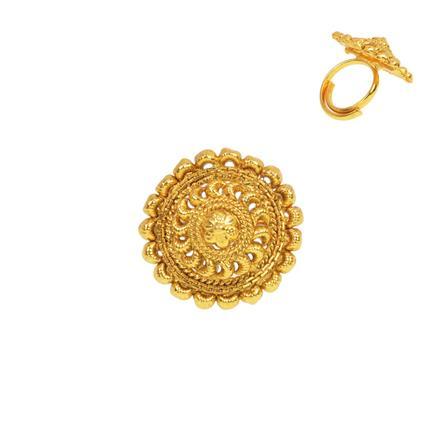 13273 Antique Plain Gold Ring
