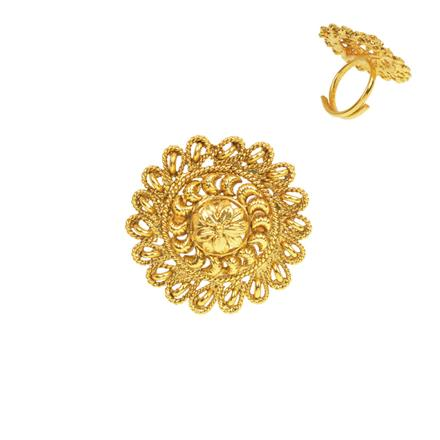 13276 Antique Plain Gold Ring