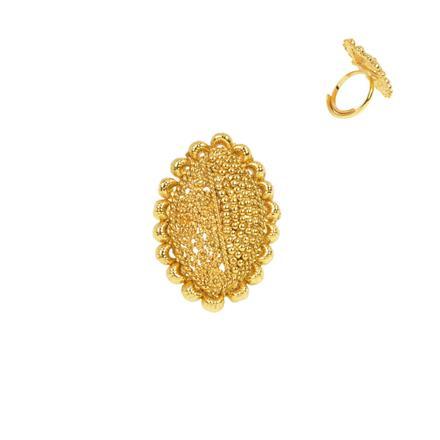 13277 Antique Plain Gold Ring