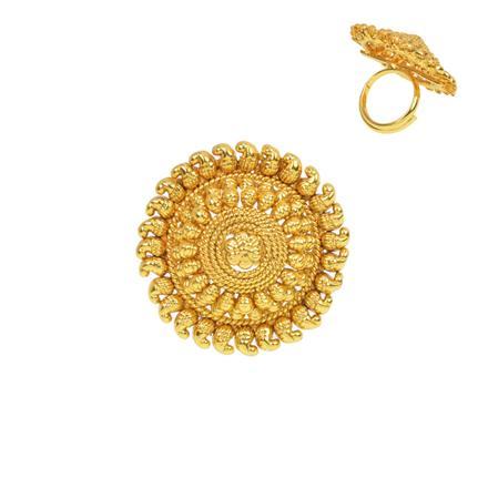 13280 Antique Plain Gold Ring