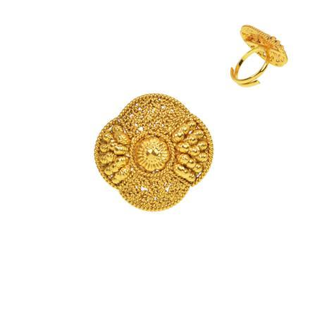 13281 Antique Plain Gold Ring