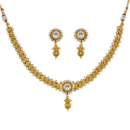 13292 Antique Classic Necklace with gold plating