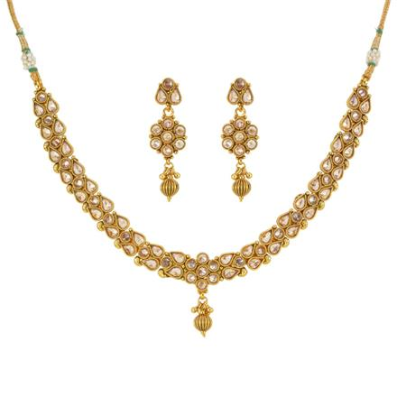 13296 Antique Classic Necklace with gold plating