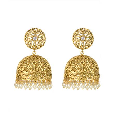 13300 Antique Jhumki with gold plating