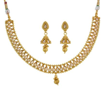 13301 Antique Classic Necklace with gold plating