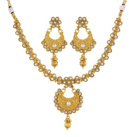 13302 Antique Classic Necklace with gold plating