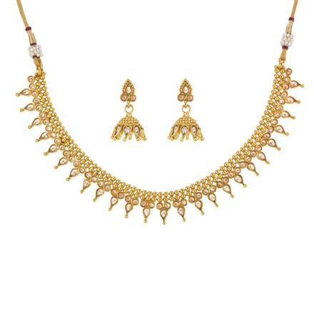 13303 Antique Delicate Necklace with gold plating