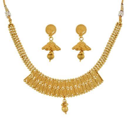 13306 Antique Plain Gold Necklace