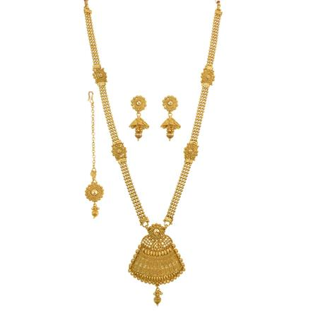 13307 Antique Long Necklace with gold plating