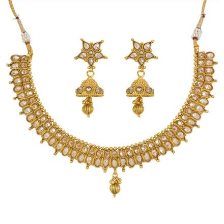 13308 Antique Classic Necklace with gold plating
