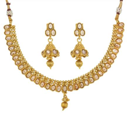 13309 Antique Classic Necklace with gold plating