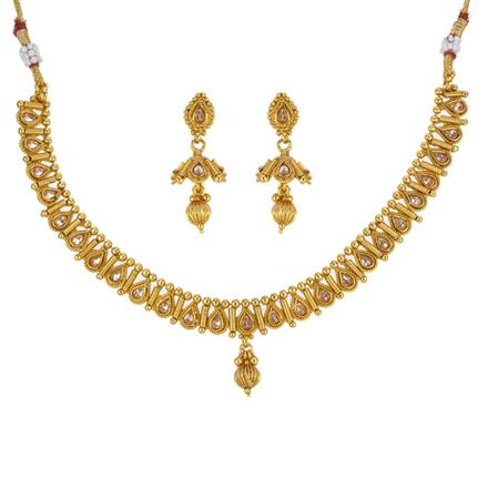 13310 Antique Classic Necklace with gold plating