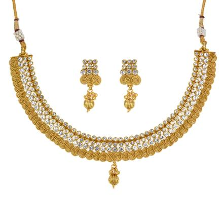 13311 Antique Classic Necklace with gold plating