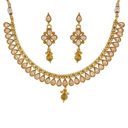 13312 Antique Classic Necklace with gold plating