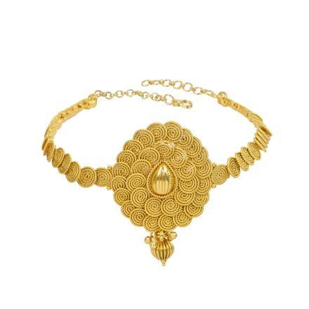 13313 Antique Plain Gold Baju Band