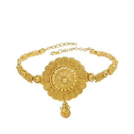 13314 Antique Plain Gold Baju Band