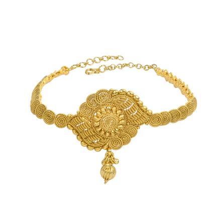 13315 Antique Plain Gold Baju Band