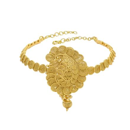 13316 Antique Plain Gold Baju Band