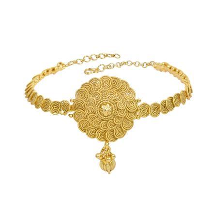 13318 Antique Plain Gold Baju Band